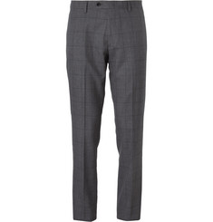 J.Crew Grey Ludlow Slim-Fit Windowpane-Check Wool Suit Trousers