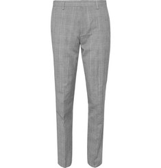 J.Crew Grey Slim-Fit Prince Of Wales Check Wool and Linen-Blend Suit Trousers