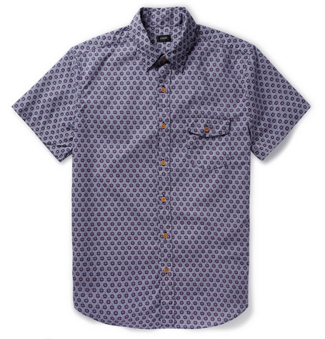 J.Crew Printed Cotton Short-Sleeved Shirt