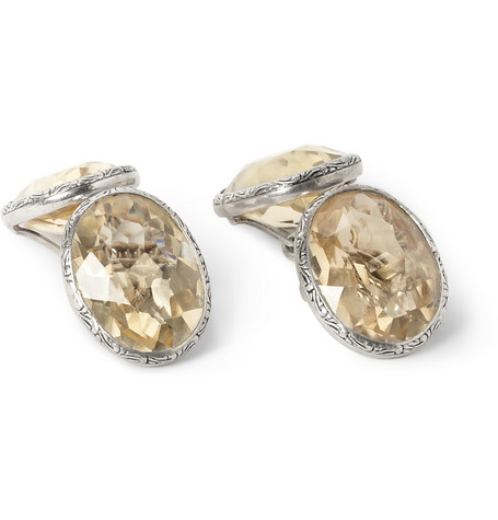 Foundwell Sterling Silver and Citrine Cufflinks