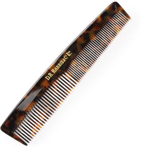 D R HARRIS Large Tortoiseshell Acetate Comb in Brown