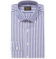 Emma Willis - Butcher-Stripe Swiss Cotton Shirt