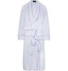 Emma Willis Striped Linen Dressing Gown