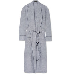 Emma Willis Gingham Check Linen Dressing Gown