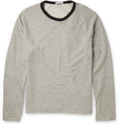 James Perse Striped Cotton-Fleece Sweatshirt