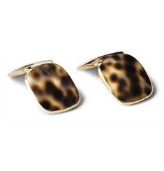 Trianon 18-Karat Gold And Shell Cufflinks