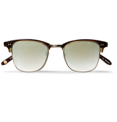 Garrett Leight California Optical Lincoln Acetate and Stainless-Steel D-Frame Sunglasses