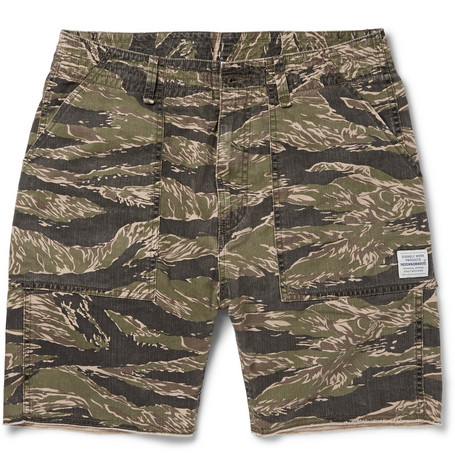 Neighborhood Tigerstripe Camouflage Cotton-Canvas Cargo Shorts