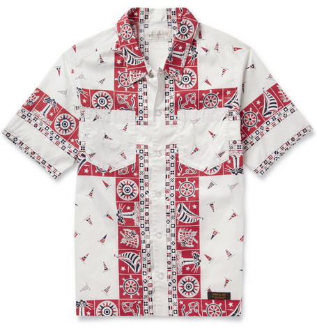 Neighborhood Printed Cotton Short-Sleeved Shirt