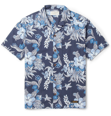 Neighborhood Printed Short-Sleeved Cotton Shirt