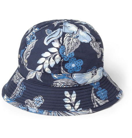 Neighborhood Printed Cotton Bucket Hat