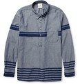 Remi Relief Striped Cotton-Chambray Half-Placket Shirt
