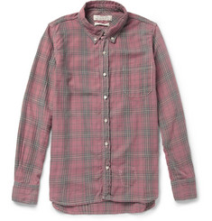 Remi Relief Washed Plaid Cotton-Blend Shirt