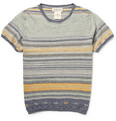 Remi Relief Patterned Linen and Cotton-Blend Knit T-Shirt