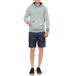 Remi Relief Striped Loopback Cotton-Jersey Hoodie