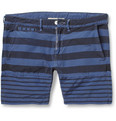 Remi Relief Slim-Fit Striped Cotton-Blend Shorts