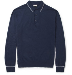 Doriani Long-Sleeved Knitted-Cotton Polo Shirt