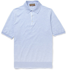 Doriani Knitted-Cotton Polo Shirt
