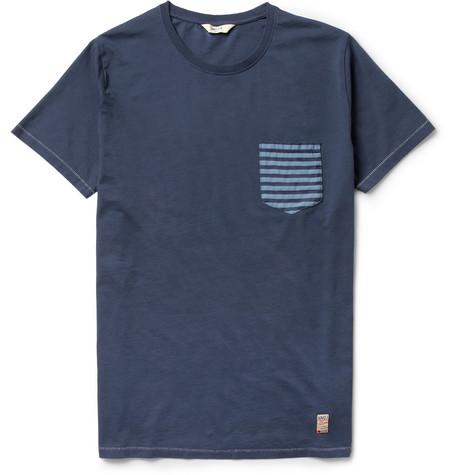 NN.07 Todd Contrast-Pocket Cotton-Jersey T-Shirt