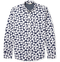 NN.07 Clay Spot-Print Cotton Oxford Shirt