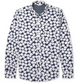 NN07 - Clay Spot-Print Cotton Oxford Shirt