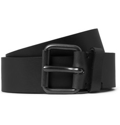 Alvaro Black 3.5cm Leather Belt