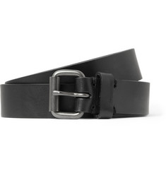 Alvaro Black 2.5cm Leather Belt