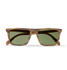 Oliver Peoples Bernardo Rectangular Frame Matte-Acetate Sunglasses