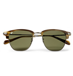 Oliver Peoples Banks Acetate and Metal Sunglasses