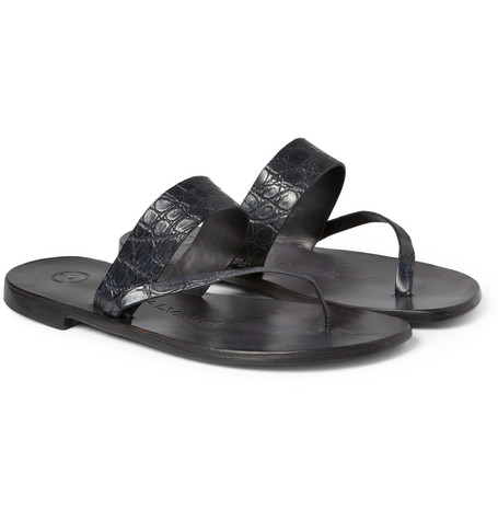 Álvaro Alligator Sandals