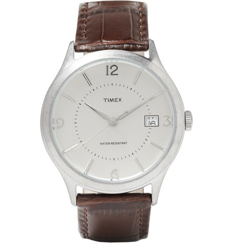 Timex x J.Crew Timex 1600 Stainless Steel Watch