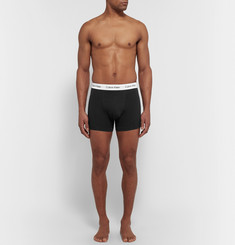 Calvin Klein Underwear Three-Pack Stretch-Cotton Boxer Briefs