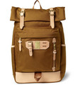 Master-Piece - Surpass Leather-Trimmed Nylon Backpack