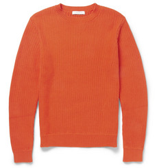 Sandro Rib-Knit Cotton Sweater