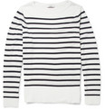Sandro - Striped Lightweight Cotton Sweater