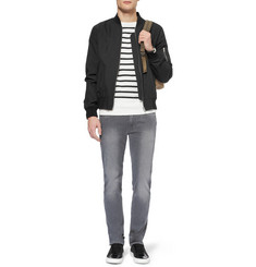 Sandro Striped Lightweight Cotton Sweater