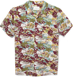 Sandro Printed Short-Sleeved Shirt