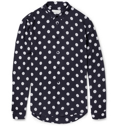 Sandro Slim-Fit Spot-Print Lightweight Shirt