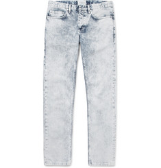 Sandro Slim-Fit Acid-Wash Denim Jeans