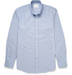 Saturdays Surf NYC Polka-Dot Print Cotton Shirt