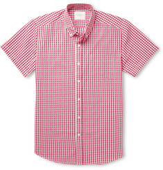 Saturdays Surf NYC Gingham Button-Down Collar Cotton-Poplin Shirt