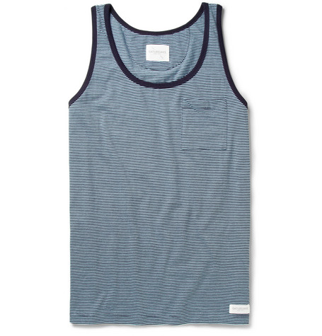 Saturdays Surf NYC Striped Cotton-Jersey Vest