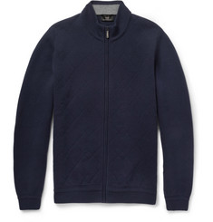 Alfred Dunhill Merino Wool and Cashmere-Blend Zipped Cardigan