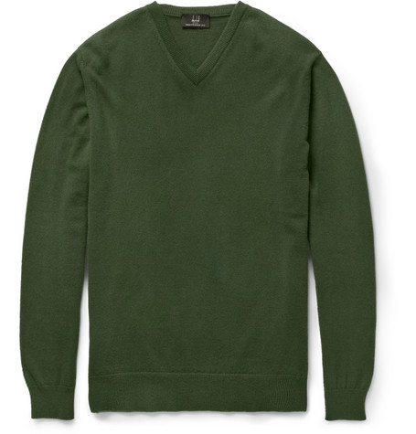 Dunhill Cashmere V-Neck Sweater