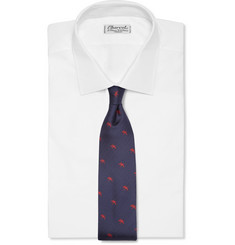 Alfred Dunhill Embroidered Mulberry Silk Tie