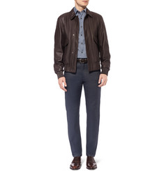 Alfred Dunhill Welbeck Slim-Fit Linen and Cotton-Blend Trousers