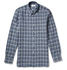 Alfred Dunhill Billy Checked Linen Shirt