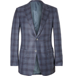 Alfred Dunhill Damien Slim-Fit Check Wool and Silk-Blend Blazer