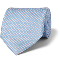 Emma Willis Flower-Print Silk Tie