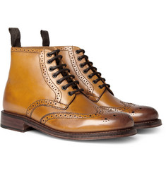 Grenson Sharp Wingtip Leather Brogue Boots